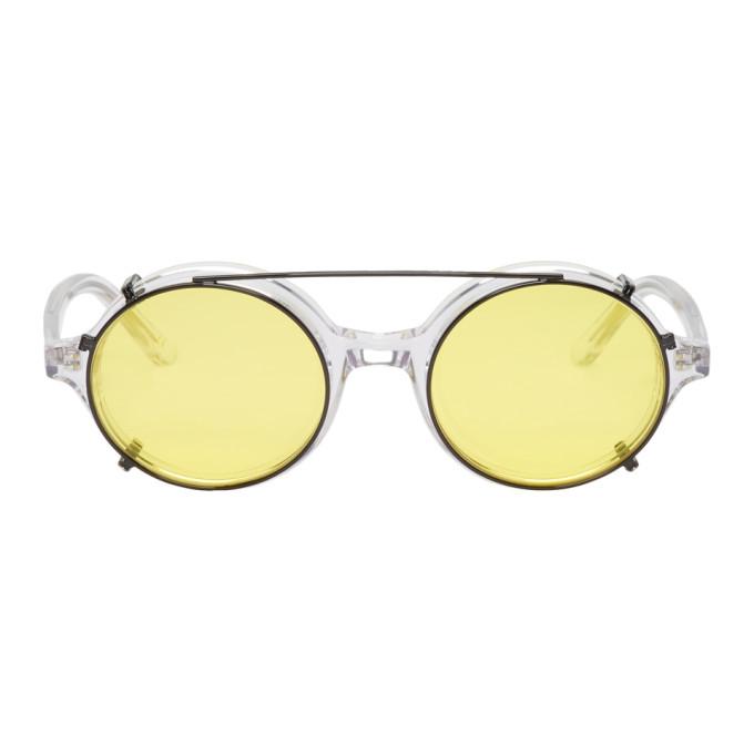 Han Kjobenhavn Transparent & Black Doc Clip-On Sunglasses