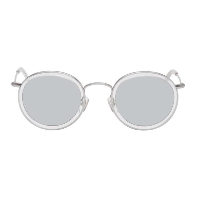Han Kjobenhavn Transparent & Silver Titanium Drum Sunglasses