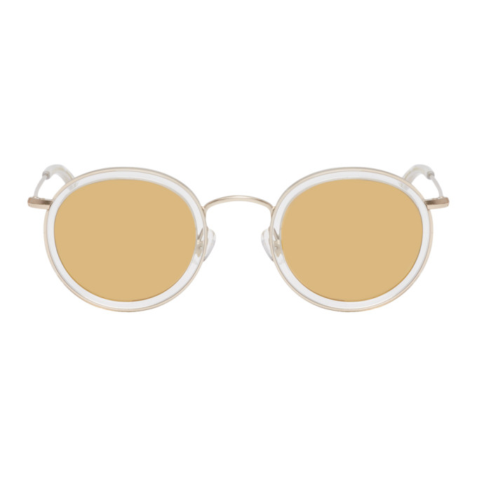 Han Kjobenhavn Transparent & Gold Drum Sunglasses