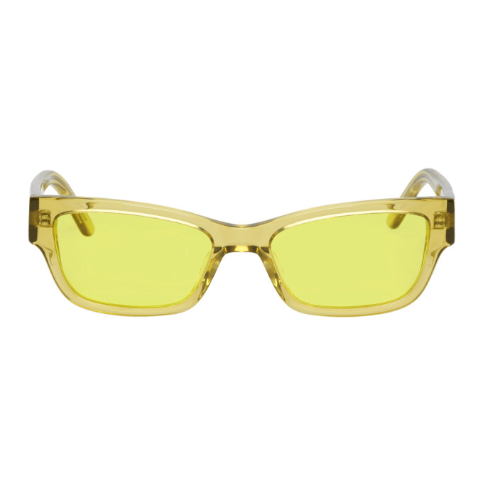 Han Kjobenhavn Yellow Transparent Moon Sunglasses