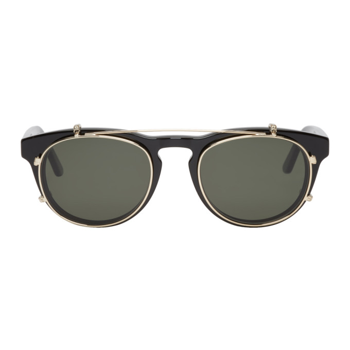 Image of Han Kjobenhavn Black & Gold Timeless Clip-On Sunglasses
