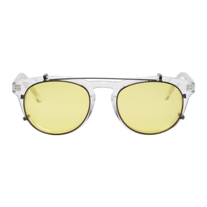 Han Kjobenhavn Transparent & Black Timeless Clip-On Sunglasses