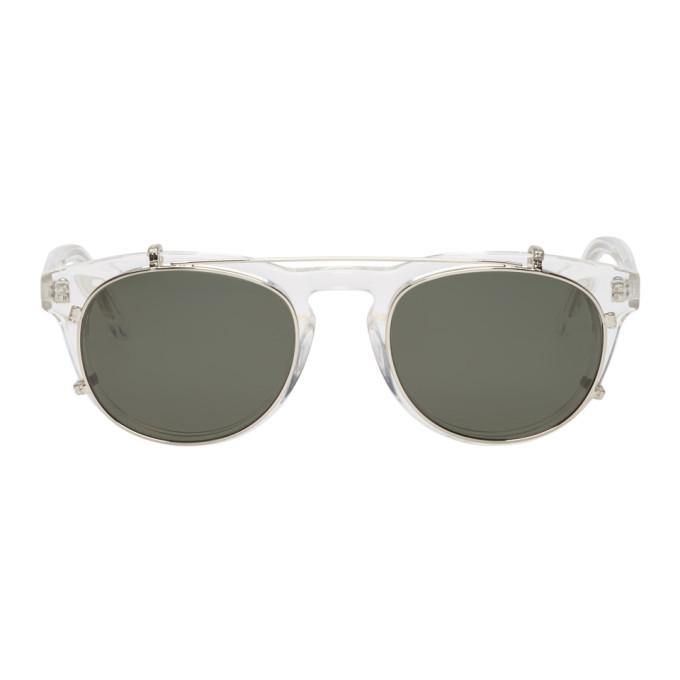 Han Kjobenhavn Transparent & Silver Timeless Clip-On Sunglasses