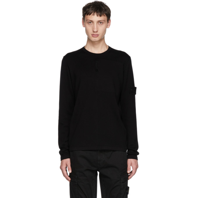 Image of Stone Island Black Ghost Crewneck Sweater