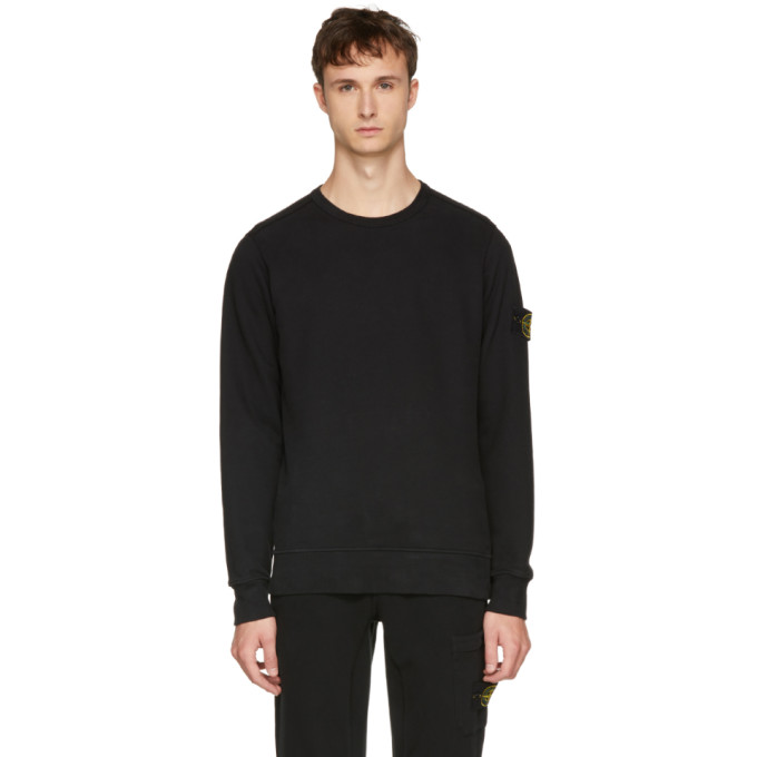 Image of Stone Island Black Arm Badge Sweatshirt