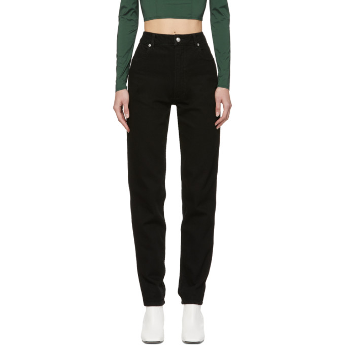Eckhaus Latta Straight jeans BLACK EL JEANS