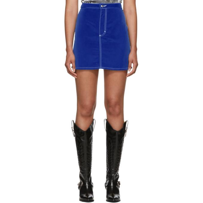 Image of Eckhaus Latta Blue El Skirt