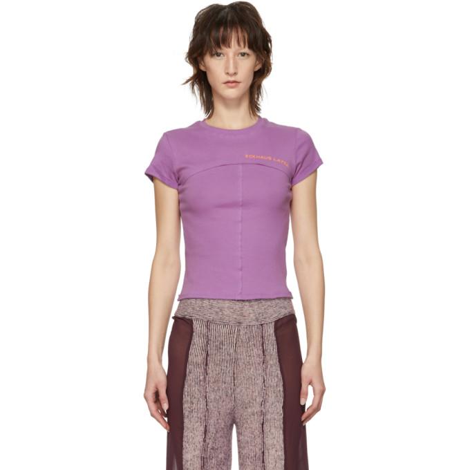 ECKHAUS LATTA Eckhaus Latta Purple Lapped Baby T-Shirt in Lilac