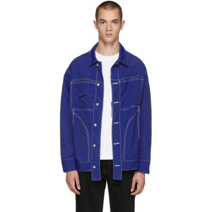 ECKHAUS LATTA Eckhaus Latta Ssense Exclusive Blue Nylon Jacket