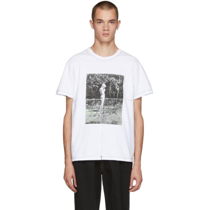 Eckhaus Latta ホワイト ラップ T シャツ