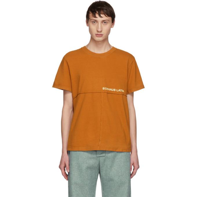 ECKHAUS LATTA Eckhaus Latta Tan Lapped T-Shirt