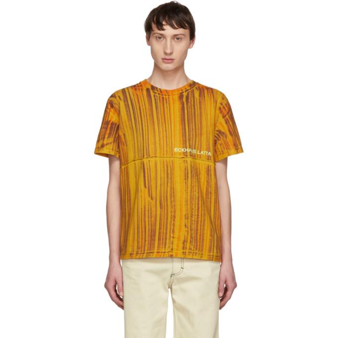 ECKHAUS LATTA Eckhaus Latta Orange Dyed Lapped T-Shirt