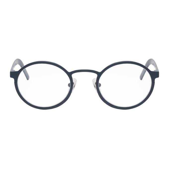 BLYSZAK Blyszak Navy Signature Glasses in Marine/Clea
