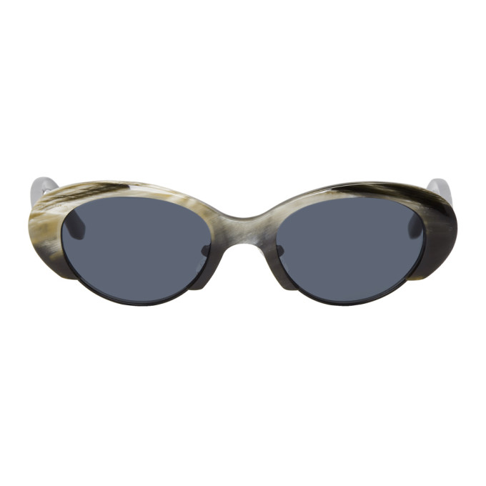 Image of BLYSZAK Brown Alex Eagle Edition Collection X Sunglasses