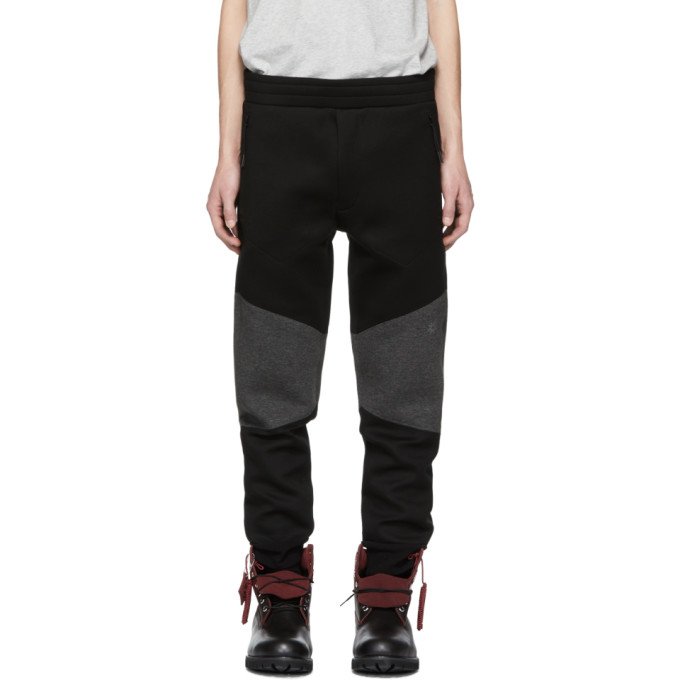 ISAORA Isaora Black Neo Panel Lounge Pants in Bk/Charcoal