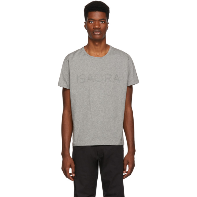 ISAORA Isaora Grey Perfect T-Shirt in Heather Gry