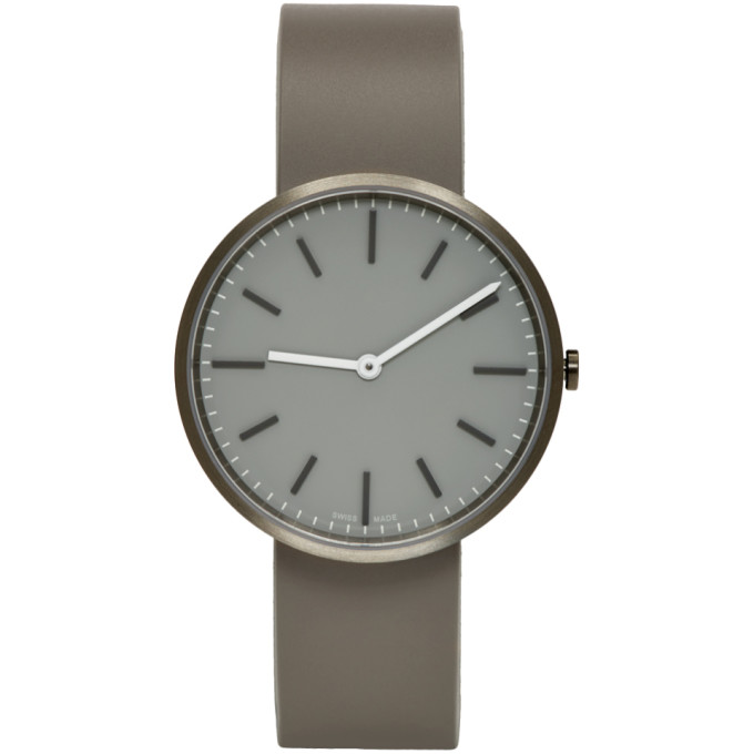 Image of Uniform Wares Grey Rubber M37 Watch