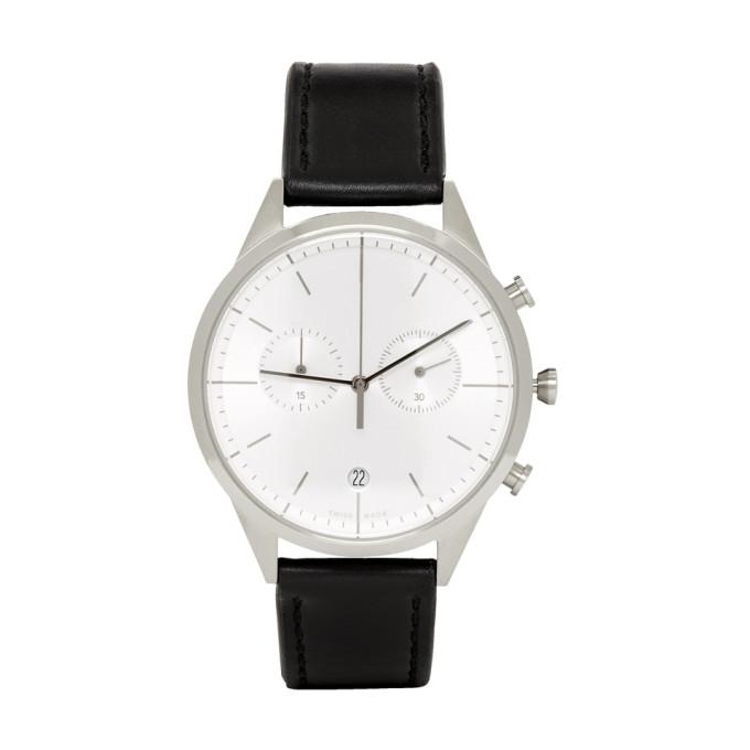 Image of Uniform Wares Black Leather C39 Chronograph Watch