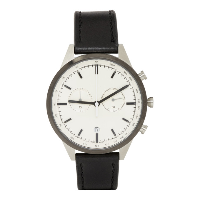 Image of Uniform Wares Black Leather C41 Chronograph Watch