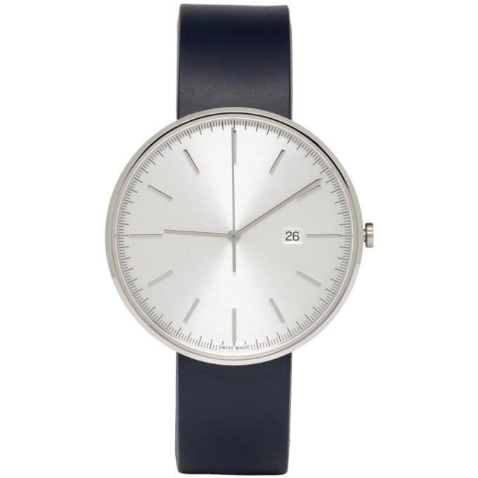 Image of Uniform Wares SSENSE Exclusive Blue M40 Watch