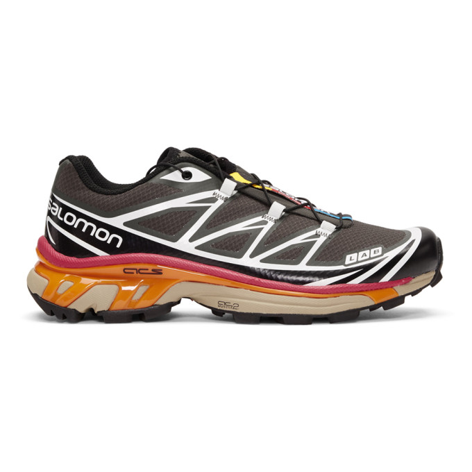 Salomon Grey & Black S/Lab XT-6 Softground ADV Sneakers