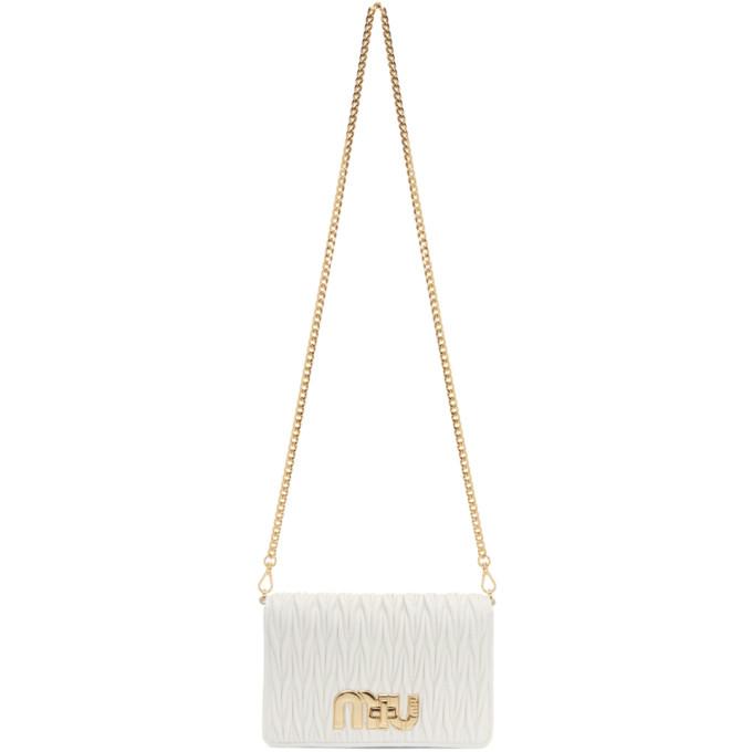Miu Miu White Matelasse Bag