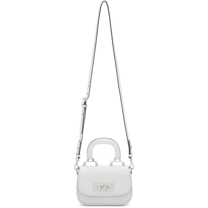 ce09cca4f55 Miu Miu White Mini Top Handle Bag