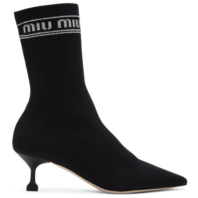 Miu Miu Black Sock Boots