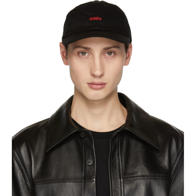 032c Black Embroidered Classic Cap 182843M13900101