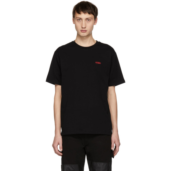 032c Black Embroidered Classic T Shirt