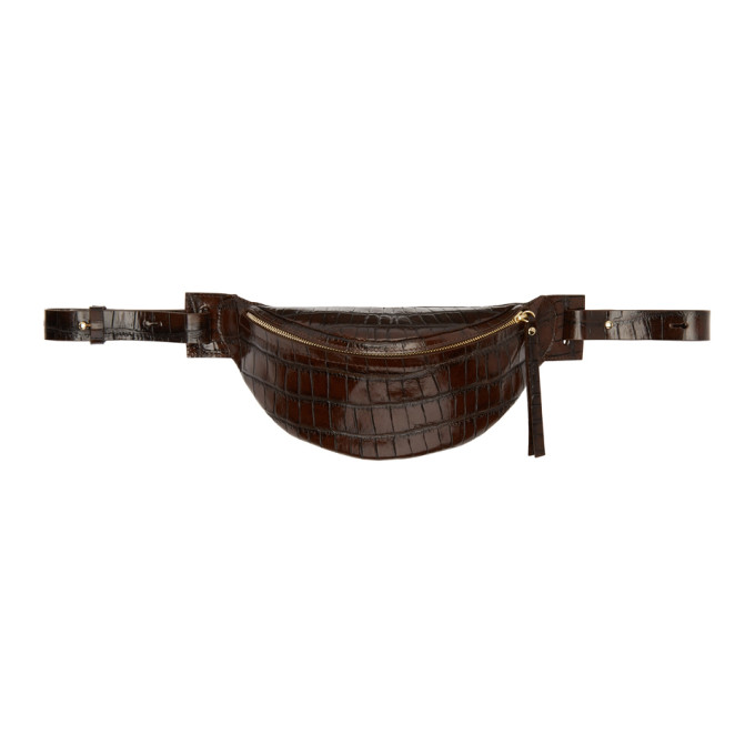 Nanushka Brown Leather Lubo Belt Bag