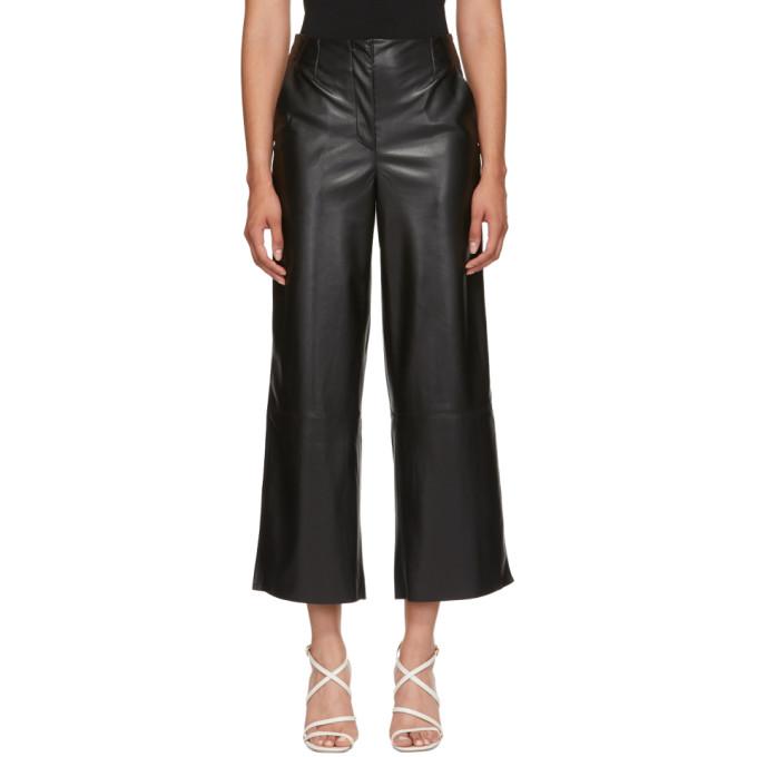 83ddbe6198 Nanushka Black Vegan Leather Africa Trousers