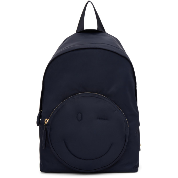 Image of Anya Hindmarch Navy Chubby Wink Backpack
