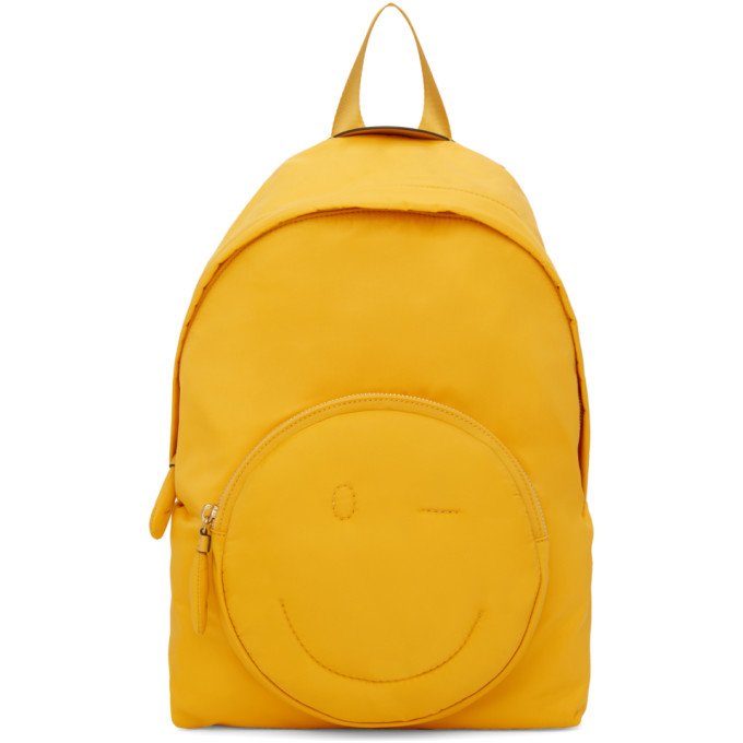 Anya Hindmarch Yellow Chubby Wink Backpack