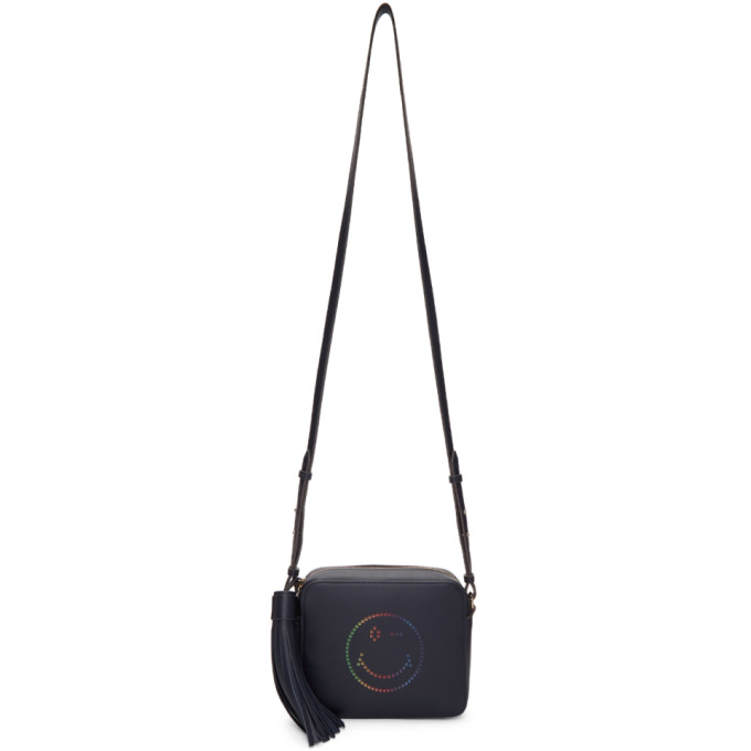 Anya Hindmarch Navy Rainbow Wink Crossbody Bag