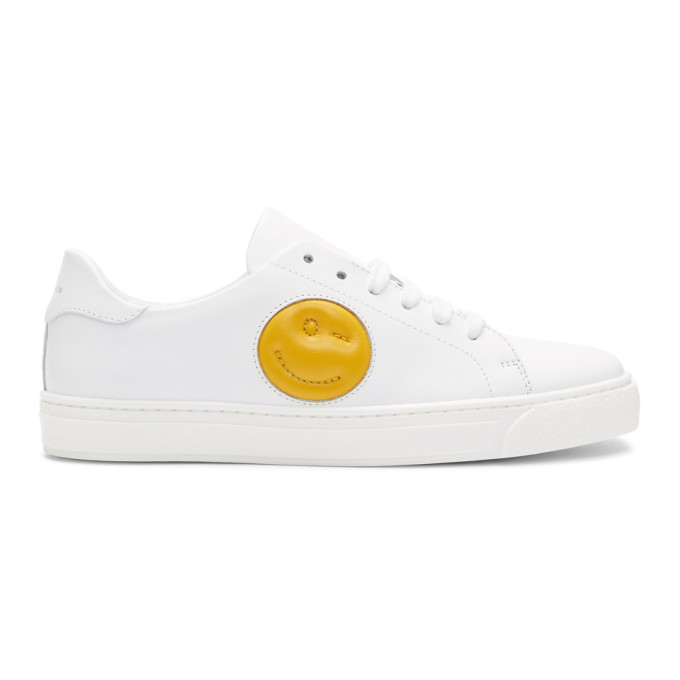 Anya Hindmarch White Chubby Wink Tennis Sneakers