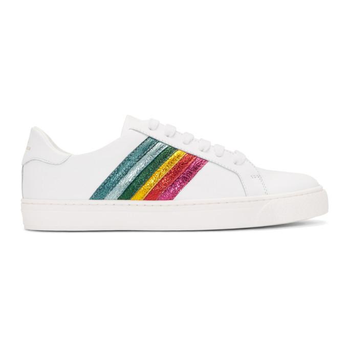 Anya Hindmarch White Rainbow Tennis Sneakers