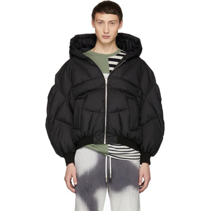 CHEN PENG Chen Peng Oversized Puffer Jacket - Black