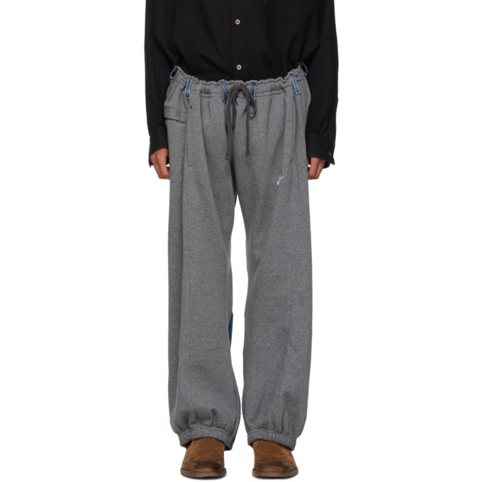 c5eaf915e878b Bless Grey and Indigo Reconstructed Overjogging Lounge Pants