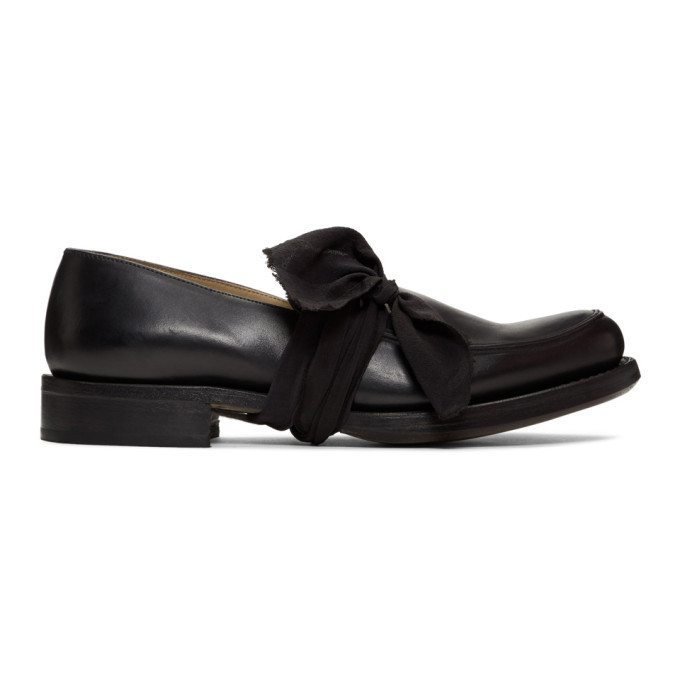 Cherevichkiotvichki Black Pointy Moccasin Loafers