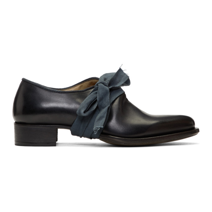 Cherevichkiotvichki Black Pointy Bow Derbys