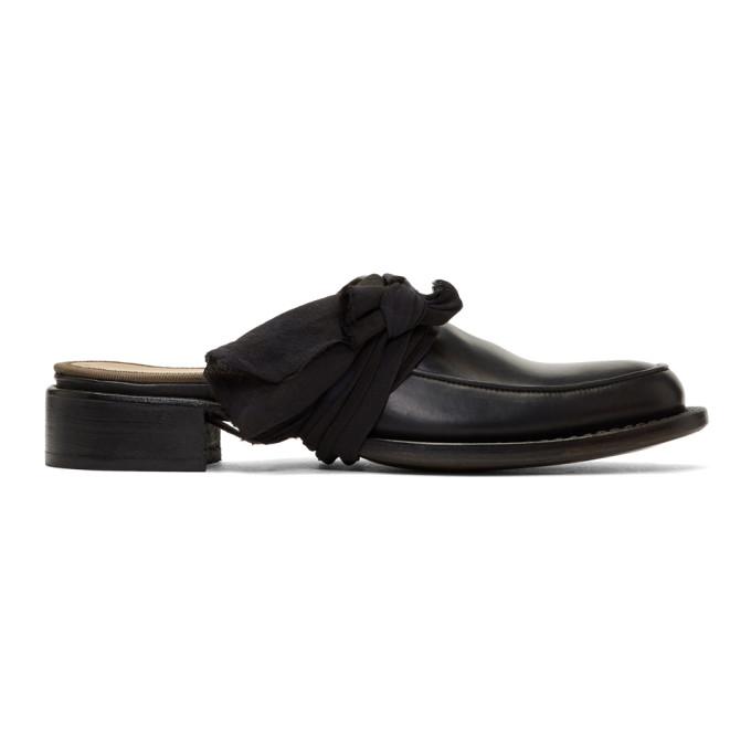 Cherevichkiotvichki Black Pointy Moccasin Slippers