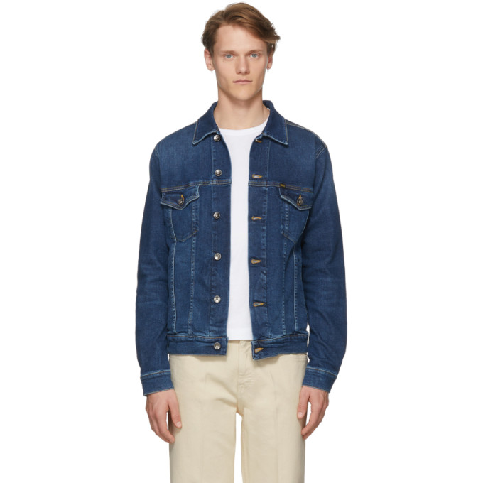 TIGER OF SWEDEN JEANS BLUE DENIM PRIMAL JACKET