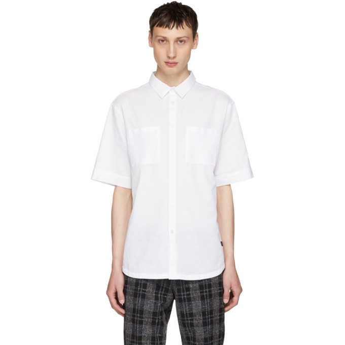 TIGER OF SWEDEN JEANS WHITE RELAX SHIRT
