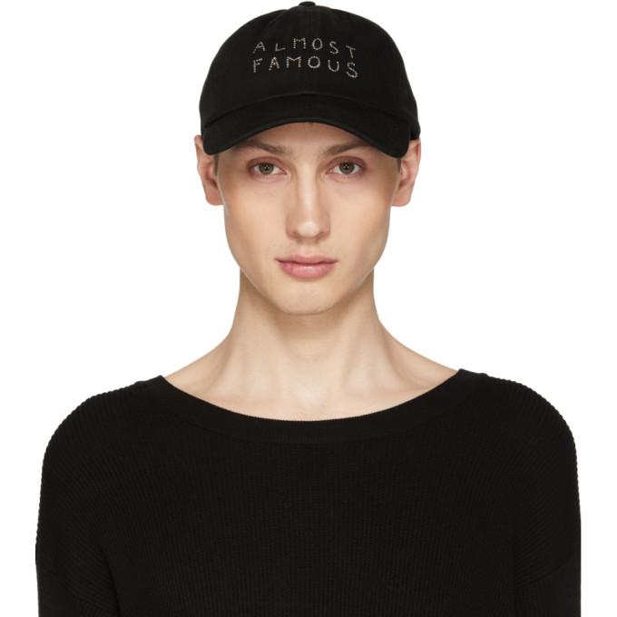 Image of Nasaseasons Black Swarovski Edition 'Almost Famous' Cap