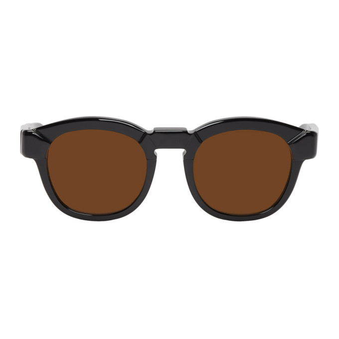 Image of Kuboraum Black & Brown K17 BMS Sunglasses