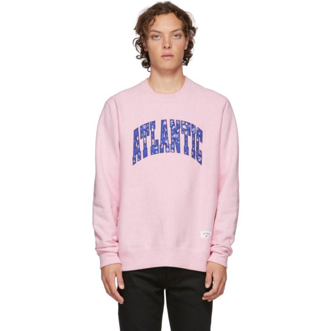 NOAH Noah Nyc Pink Atlantic Sweatshirt in Heatherpink