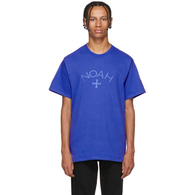 NOAH Noah Nyc Blue Core Logo T-Shirt in True Royal
