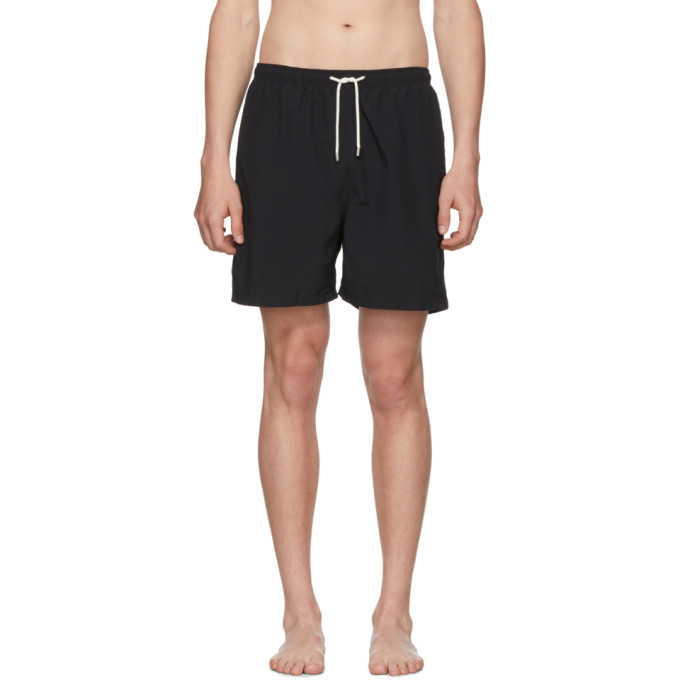 Image of Solid & Striped Black Classic Swim Shorts