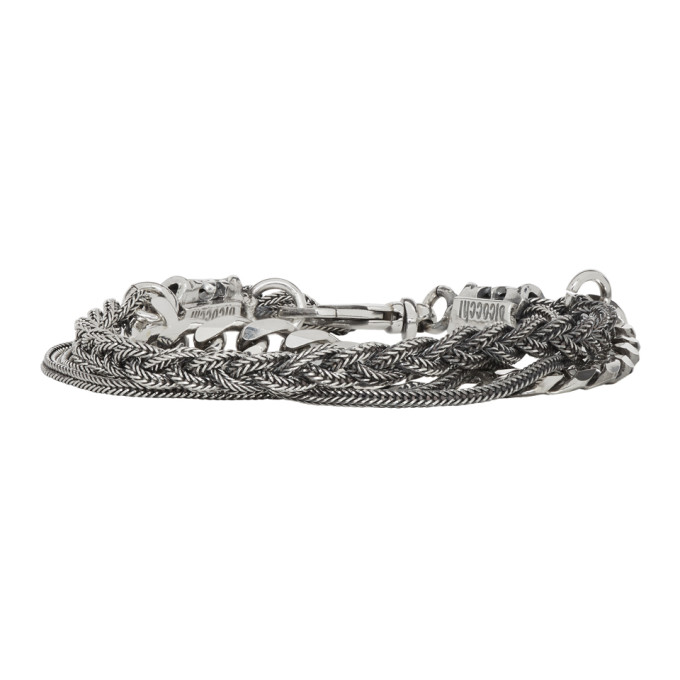 Image of Emanuele Bicocchi Silver Chain & Braid Bracelet